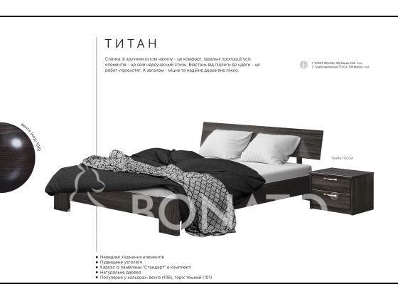 Дерев'яне ліжко в стилі модерн Титан